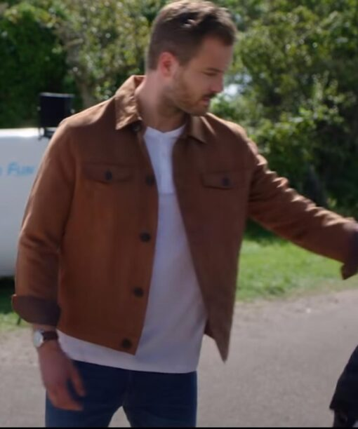 Chris Just Say Yes Brown Cotton Jacket Oskar