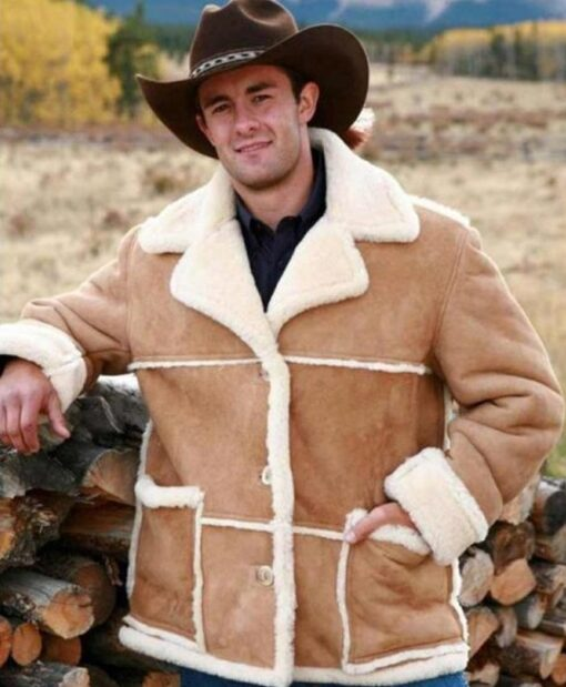 Marlboro Man Shearling Fur Sheepskin Jacket