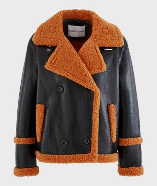 Mens Sheepskin Fur Leather Jacket