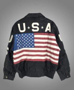 USA Flag Independence Day Vintage Jacket