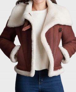 Women Sheepskin Shearling Fur Jacket