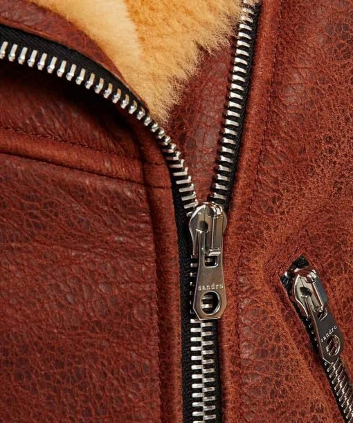 Womens Soft Shearling Classic Brown Jacket