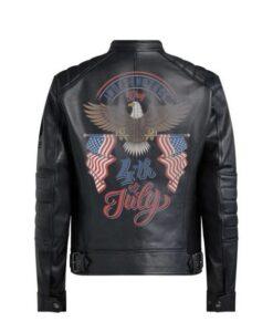 Bald Eagle Leather Black Jacket