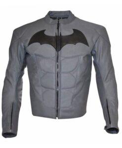 Batman Arkham Knight Black Logo Grey Jacket