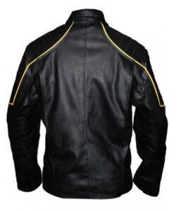 Batman Black & Yellow Logo Leather Jacket