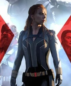 Black Widow 2021 Black Jacket