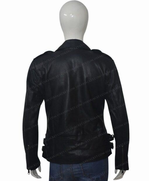 Black Widow 2021 Natasha Romanoff Biker Jacket Back