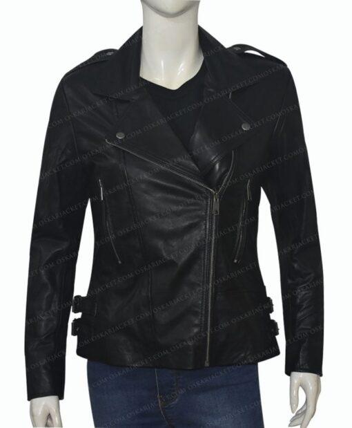 Black Widow 2021 Natasha Romanoff Biker Jacket Front