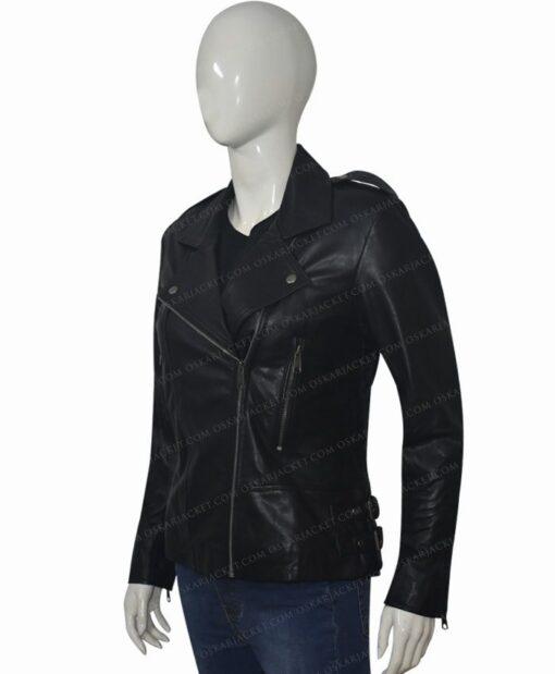 Black Widow 2021 Natasha Romanoff Biker Jacket LEft