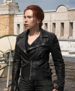Black Widow Natasha Romanoff Biker Jacket