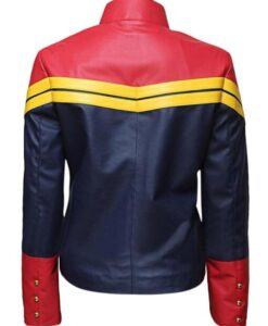 Captain Marvel Carol Danvers PU Leather Jacket