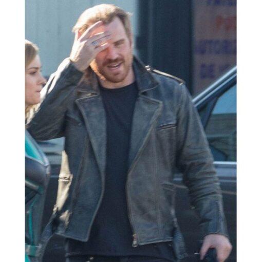 Captain Marvel Mar Vell Distressed Black Jacket