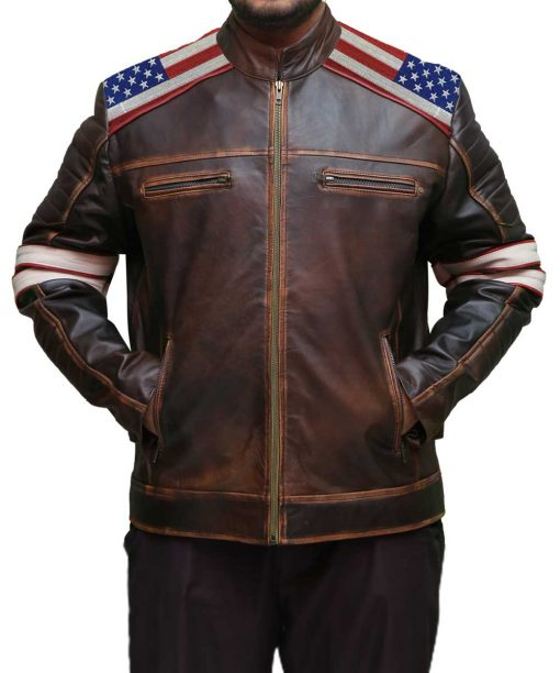Independence Day Flag Brown Jacket