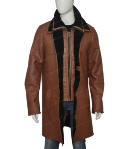 Mens RAF B3 Bomber Duffle Shearling Fur Coat