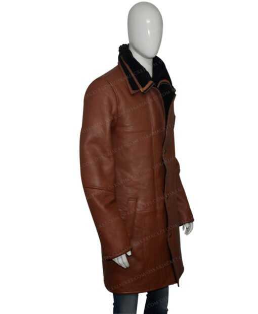 Mens RAF B3 Bomber Duffle Shearling Fur Coat Right View