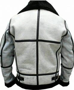 Mens RAF B3 Flight Aviator Leather Jacket