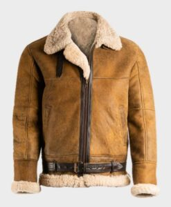 Mens Sheepskin B3 Brown Jacket