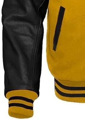 Mens Varsity Letterman Baseball Bomber Style Jacket
