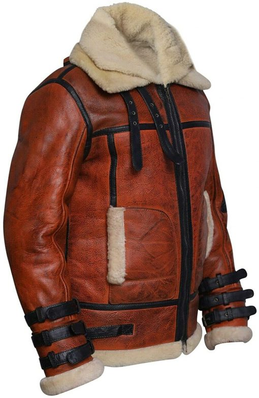 RAF B3 Aviator Double Shearling Collar jacket
