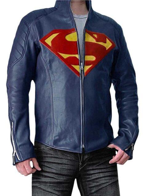 Superman Man Of Steel PU Leather Jacket