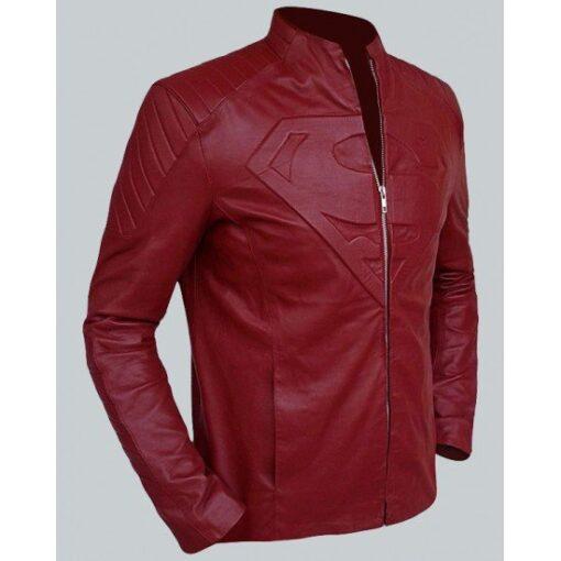 Superman Smallville Leather Maroon Jacket