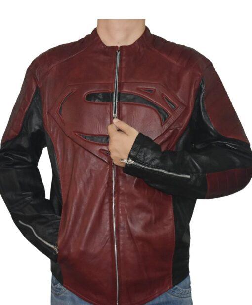 Superman Smallville Pu Leather Jacket