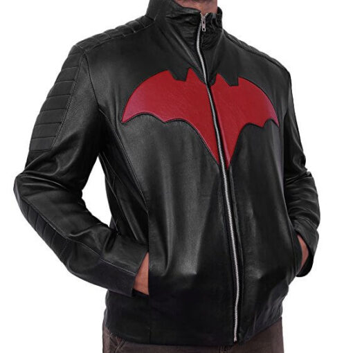 Terry Mcginnis Red Bat Logo Jacket