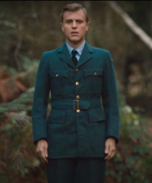 The Dig Stuart Piggott Cotton Azure Blue Coat