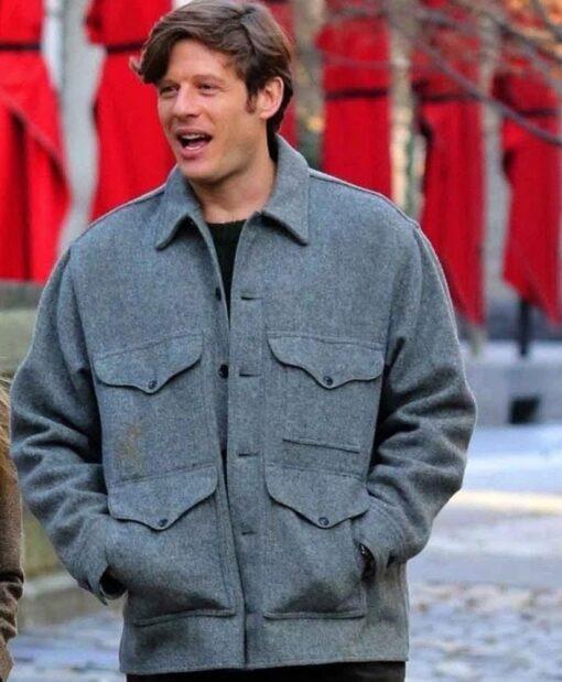 Things Heard & Seen James Norton Grey Wool Material Jacket Front