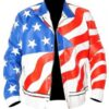 Vanilla Ice USA Flag faux Jacket