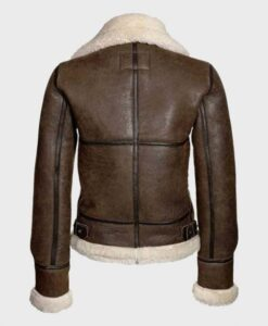 Womens Distressed Shearling Jacket