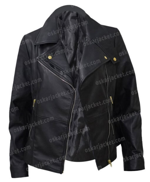Womens Slim Fit Motorcycle Leather Jacket