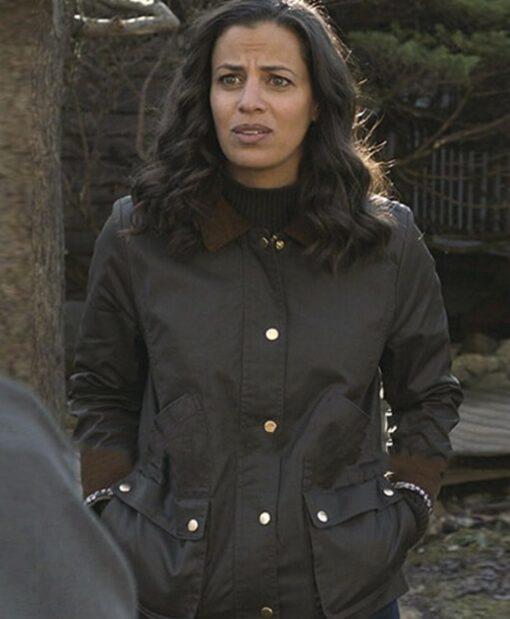 Athena Karkanis Manifest S03 Cotton Black Jacket