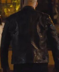 Fast 09 Vin Diesel Black Leather Jacket Back