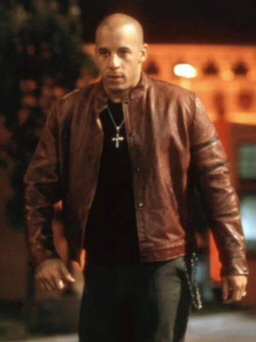 Fast and Furious Dom Maroon Jacket Front