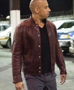 Fast and Furious Dom Maroon Jacket Image