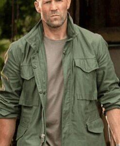 Jason Statham Hobbs & Deckard Shaw Green Jacket Front
