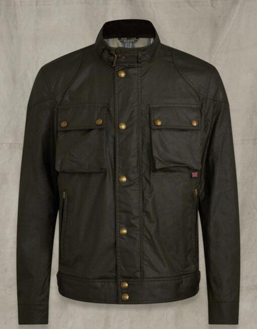 Josh Dallas Manifest Stand Up Collar Cotton Jacket Front