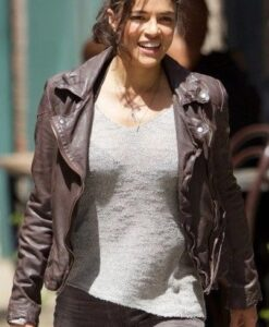 Letty The Fate Of The Furious Leather Jacket Front