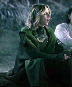 Loki S01 Sylvie Hooded Green Trench Coat