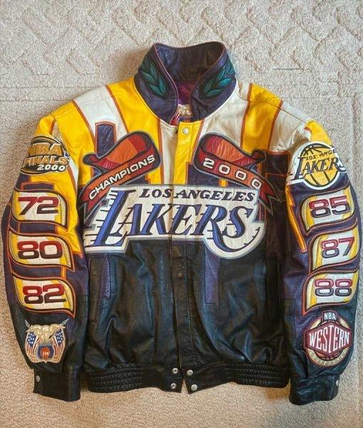 Los-Angeles-Lakers-Jeff-Hamilton-2000-Finals-NBA-Championship-Leather-Jacket