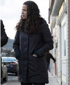 Manifest Grace Stone Black Mid Length Coat Side Image