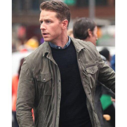 Manifest Josh Dallas Suede Leather Jacket Front Image