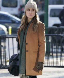 Manifest Michaela Stone Camel Brown Wool Coat