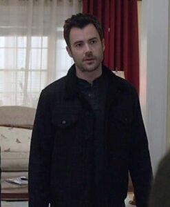 Matt Long Manifest Season 03 Black Jacket Front Image