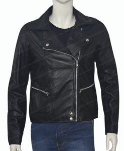 Michaela Stone Manifest Leather Jacket Front Zipped