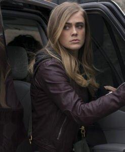 Michaela Stone Manifest Purple Leather Jacket