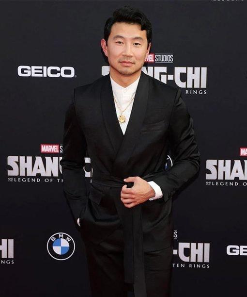 Simu Liu Preimer Shang-Chi and the Legend of the Ten Rings Black Blazer