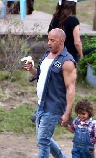 Vin Diesel Fast 9 Blue Vest Side
