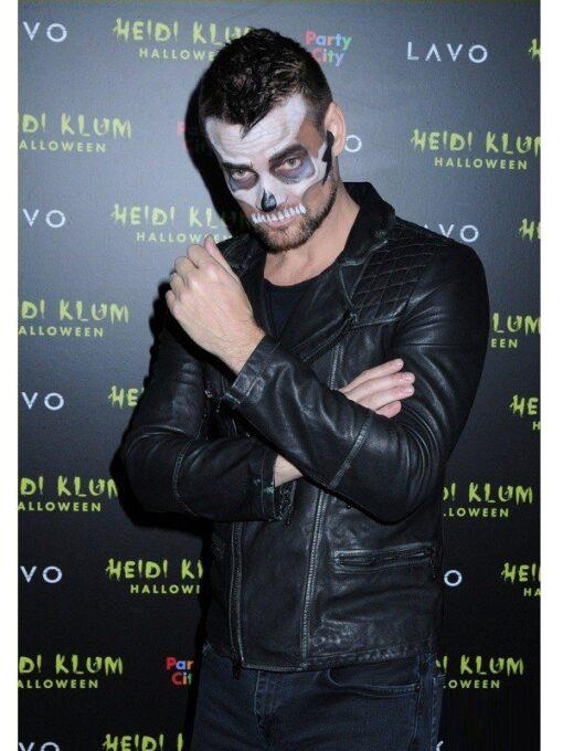 Adam Lambert Halloween Party Biker Jacket Side